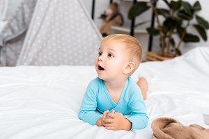 Adorable toddler boy