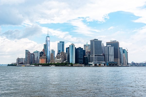 Stock Photos: Architect´s eye - Skyline of Downtown of Manhattan in