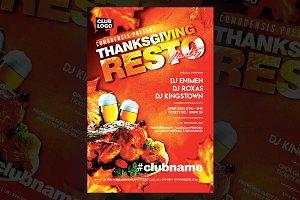 Dinner Thanksgiving Flyer