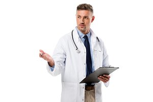 doctor in white coat with stethoscop