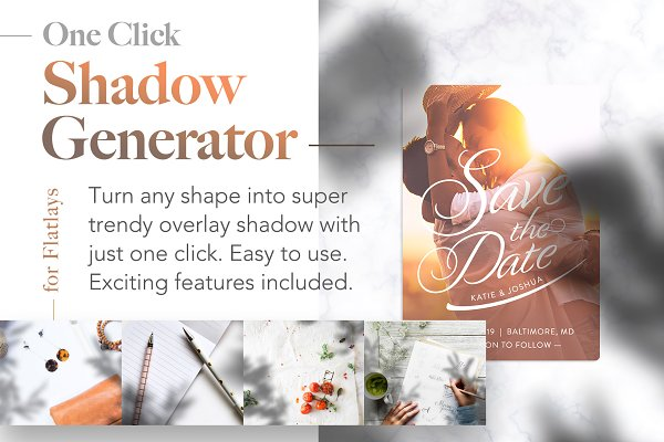 Photoshop Actions: Frisk Shop - Shadow Generator for Flatlays