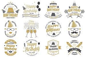Set of Happy Birthday templates