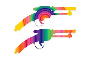 Colorful vintage gun