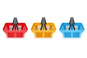 Shopping baskets supermarket