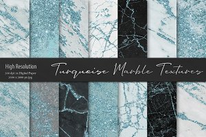 Turquoise Marble Textures