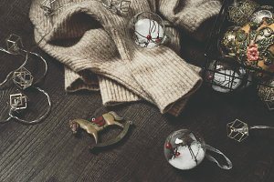 Vintage Christmas holiday background