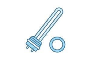 Water heater element color icon
