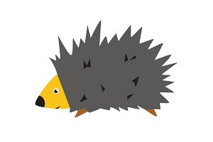 Adorable hedgehog in modern flat