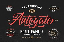 Autogate - Font Duo (+BONUS) by  in Script Fonts
