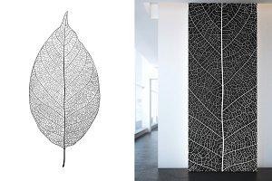 Realistic skeleton leaf. Vector.