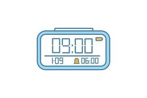 Digital alarm clock color icon