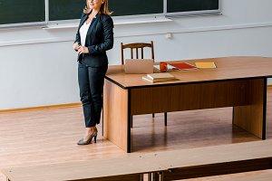 female university professor in forma