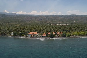 Seascape with tropical beach