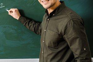 Male teacher. Education concept