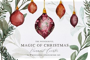 Christmas Magic Watercolor Set