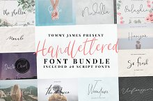 40 in 1 font bundle by Tommy James
