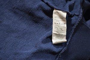 Label inside on cotton shirt