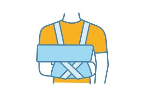 Shoulder immobilizer color icon