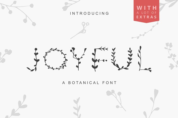 Display Fonts: floral studio - JOYFUL BOTANS