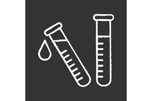 Laboratory test chalk icon