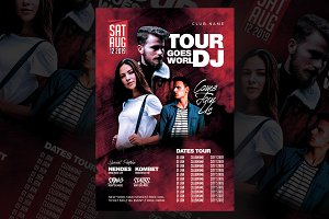 Dj Tour Flyer