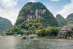 Yangshuo county and Li river. China