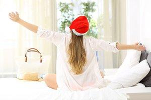 Hotel guest enjoying christmas