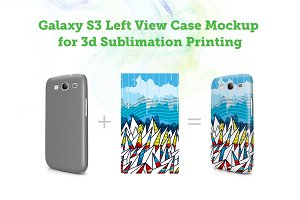Galaxy S3 3d  Left Angled Mock-up