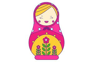 Matryoshka. Traditional russian doll