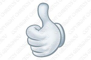 Thumbs Up Cartoon Glove Hand