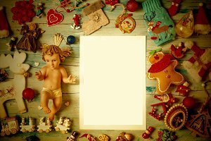 Christmas Baby Jesus, blank frame