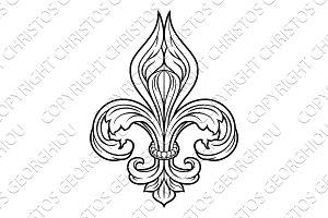 Fleur De Lis Graphic Design Element