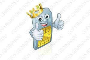 Sim Card Mobile Phone King Thumbs Up
