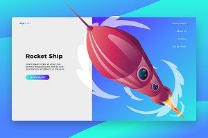 Rocket - Banner & Landing Page
