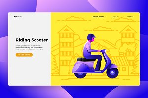 Scooter - Banner & Landing Page