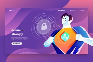 Security - Banner & Landing Page
