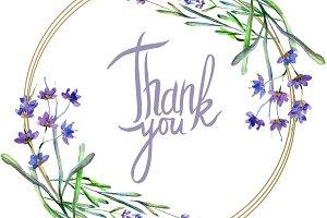 Purple lavender flower. Thank you ha