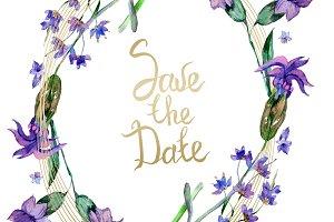 Purple lavender flowers. Save the da