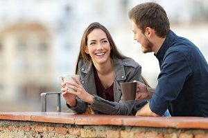 Couple or friends talking in a