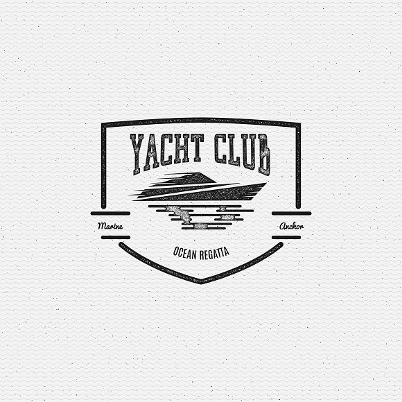 Yacht vector set badges and logos in Logo Templates - product preview 1