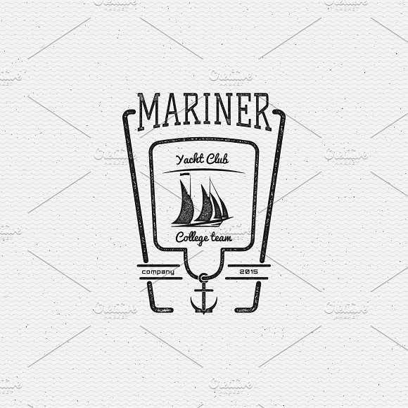 Yacht vector set badges and logos in Logo Templates - product preview 2