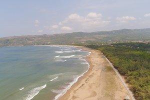 sandy beach in tropical resort