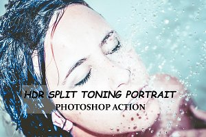 HDR Split Toning Portrait -Ps Action