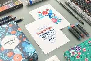 Lovely Flowers backgrounds and cards