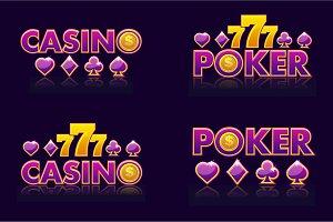 logo ideas CASINO and POKER