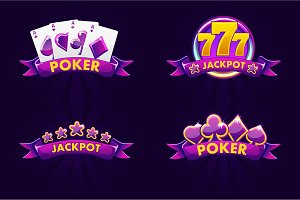 Purple Jackpot and POKER emblem