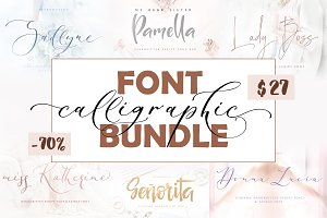 Calligraphic Font Bundle