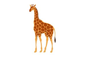 Stylized illustration of giraffe.