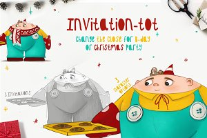 Cookie tot-Bday&Christmas invitation