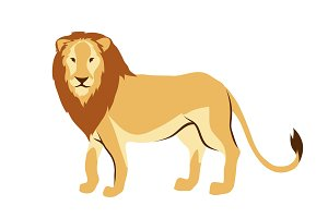 Stylized illustration of lion.